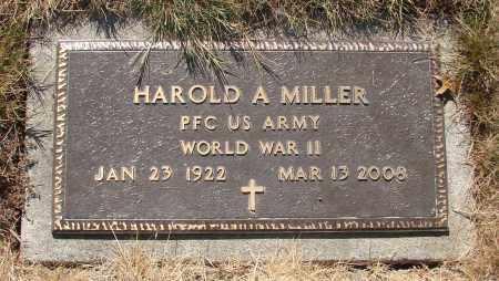MILLER, HAROLD ARTHUR - Linn County, Oregon | HAROLD ARTHUR MILLER - Oregon Gravestone Photos