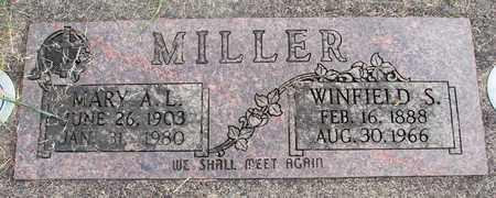 MILLER, MARY A L - Linn County, Oregon | MARY A L MILLER - Oregon Gravestone Photos