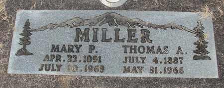 MILLER, MARY P - Linn County, Oregon   MARY P MILLER - Oregon Gravestone Photos