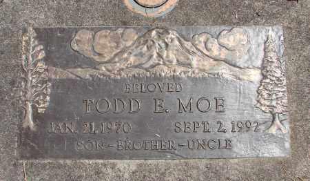 MOE, TODD E - Linn County, Oregon | TODD E MOE - Oregon Gravestone Photos