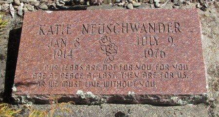 NEUSCHWANDER, KATIE - Linn County, Oregon   KATIE NEUSCHWANDER - Oregon Gravestone Photos