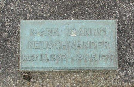 NEUSCHWANDER, MARK MANNO - Linn County, Oregon   MARK MANNO NEUSCHWANDER - Oregon Gravestone Photos