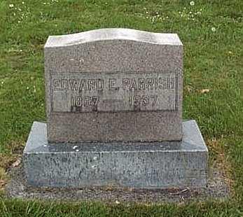 PARRISH, EDWARD E. - Linn County, Oregon | EDWARD E. PARRISH - Oregon Gravestone Photos