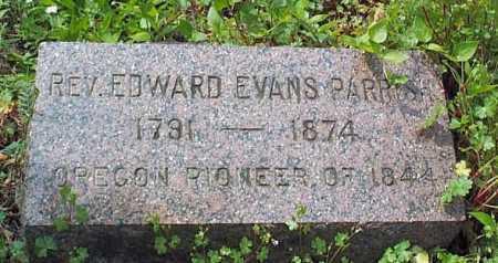 PARRISH, REV. EDWARD EVANS - Linn County, Oregon   REV. EDWARD EVANS PARRISH - Oregon Gravestone Photos