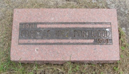 PORTWOOD, FRANCES INEZ - Linn County, Oregon | FRANCES INEZ PORTWOOD - Oregon Gravestone Photos