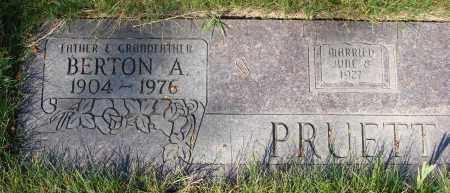 PRUETT, BERTON A - Linn County, Oregon | BERTON A PRUETT - Oregon Gravestone Photos