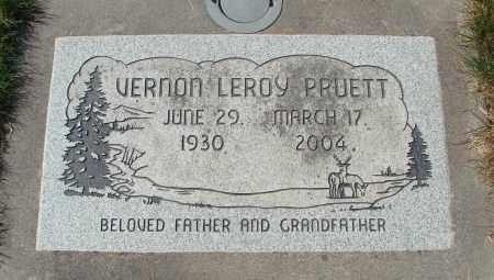PRUETT, VERNON LEROY - Linn County, Oregon | VERNON LEROY PRUETT - Oregon Gravestone Photos