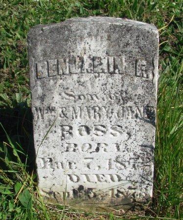 ROSS, BENJAMIN F - Linn County, Oregon | BENJAMIN F ROSS - Oregon Gravestone Photos