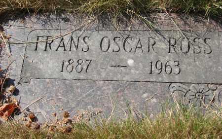 ROSS, FRANS OSCAR - Linn County, Oregon | FRANS OSCAR ROSS - Oregon Gravestone Photos