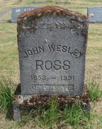 ROSS, JOHN WESLEY - Linn County, Oregon | JOHN WESLEY ROSS - Oregon Gravestone Photos