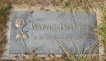 ROSS, WAYNE H - Linn County, Oregon | WAYNE H ROSS - Oregon Gravestone Photos