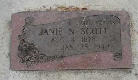 SCOTT, JANIE N - Linn County, Oregon   JANIE N SCOTT - Oregon Gravestone Photos