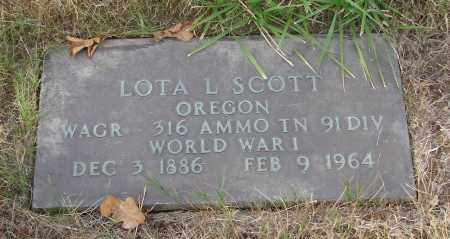 SCOTT, LOTA L - Linn County, Oregon | LOTA L SCOTT - Oregon Gravestone Photos