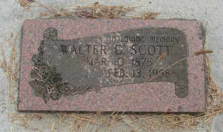 SCOTT, WALTER G - Linn County, Oregon | WALTER G SCOTT - Oregon Gravestone Photos