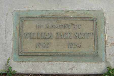 SCOTT, WILLIAM ZACK - Linn County, Oregon | WILLIAM ZACK SCOTT - Oregon Gravestone Photos