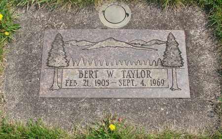 TAYLOR, BERT W - Linn County, Oregon | BERT W TAYLOR - Oregon Gravestone Photos