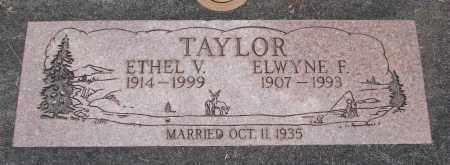 TAYLOR, ETHEL V - Linn County, Oregon | ETHEL V TAYLOR - Oregon Gravestone Photos