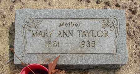 TAYLOR, MARY ANN - Linn County, Oregon | MARY ANN TAYLOR - Oregon Gravestone Photos