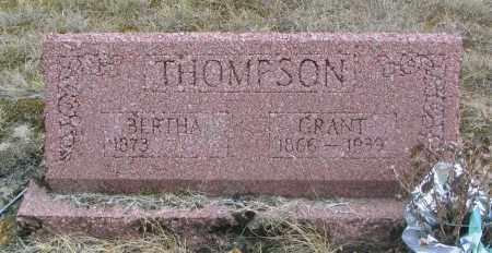 THOMPSON, BERTHA - Linn County, Oregon | BERTHA THOMPSON - Oregon Gravestone Photos