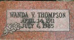 THOMPSON, WANDA V. - Linn County, Oregon | WANDA V. THOMPSON - Oregon Gravestone Photos