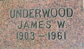 UNDERWOOD, JAMES W. - Linn County, Oregon | JAMES W. UNDERWOOD - Oregon Gravestone Photos