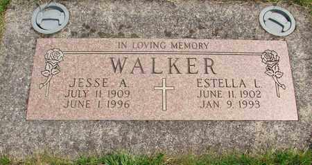 WALKER, JESSE ARTHUR - Linn County, Oregon | JESSE ARTHUR WALKER - Oregon Gravestone Photos