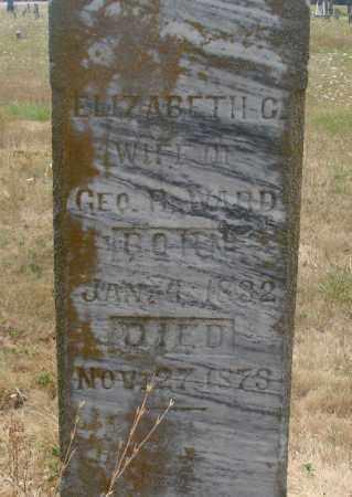 WARD, ELIZABETH C - Linn County, Oregon | ELIZABETH C WARD - Oregon Gravestone Photos