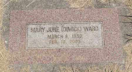 WARD, MARY JUNE - Linn County, Oregon | MARY JUNE WARD - Oregon Gravestone Photos