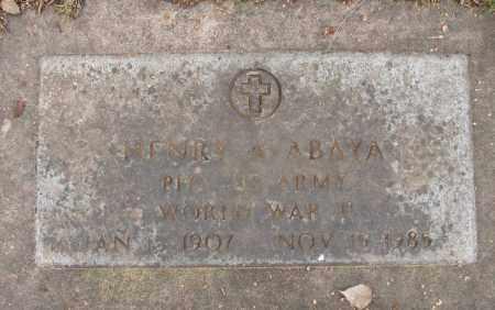 ABAYA (WWII), HENRY A - Marion County, Oregon   HENRY A ABAYA (WWII) - Oregon Gravestone Photos