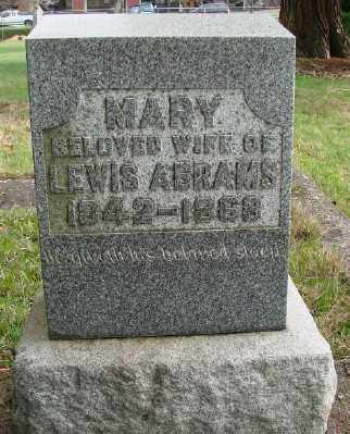 ABRAMS, MARY - Marion County, Oregon | MARY ABRAMS - Oregon Gravestone Photos