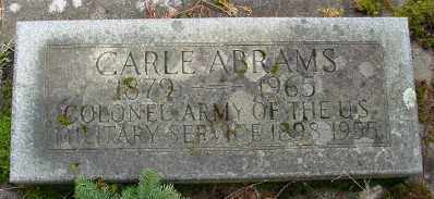 ABRAMS (SA), WALTER CARLE - Marion County, Oregon | WALTER CARLE ABRAMS (SA) - Oregon Gravestone Photos