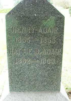 ADAIR, HATTIE BEECHER - Marion County, Oregon | HATTIE BEECHER ADAIR - Oregon Gravestone Photos