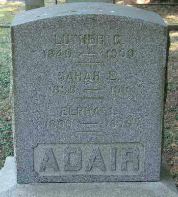 ADAIR, SARAH E - Marion County, Oregon | SARAH E ADAIR - Oregon Gravestone Photos