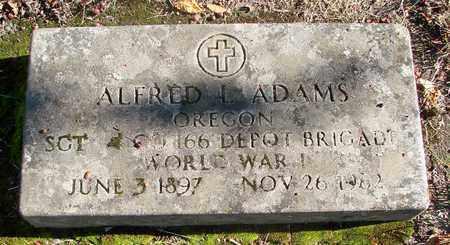 ADAMS (WWI), ALFRED L - Marion County, Oregon | ALFRED L ADAMS (WWI) - Oregon Gravestone Photos