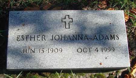 ADAMS, ESTHER JOHANNA - Marion County, Oregon   ESTHER JOHANNA ADAMS - Oregon Gravestone Photos