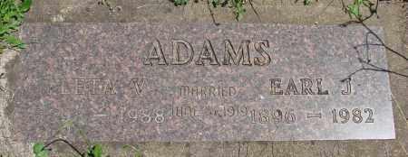 ADAMS, LETA V - Marion County, Oregon   LETA V ADAMS - Oregon Gravestone Photos