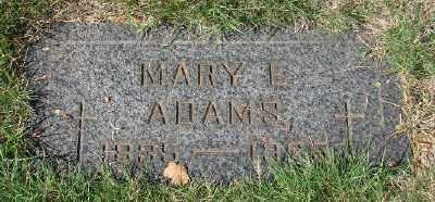 ADAMS, MARY E - Marion County, Oregon | MARY E ADAMS - Oregon Gravestone Photos