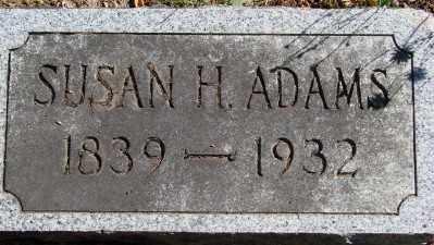 ADAMS, SUSAN H - Marion County, Oregon   SUSAN H ADAMS - Oregon Gravestone Photos