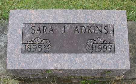 ADKINS, SARA JANE - Marion County, Oregon   SARA JANE ADKINS - Oregon Gravestone Photos