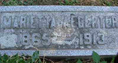 AEGERTER, MARIETTA BRADLEY - Marion County, Oregon | MARIETTA BRADLEY AEGERTER - Oregon Gravestone Photos
