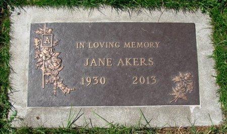 AKERS, JANE - Marion County, Oregon | JANE AKERS - Oregon Gravestone Photos