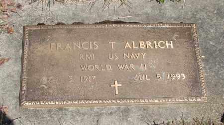 ALBRICH, FRANCIS T - Marion County, Oregon | FRANCIS T ALBRICH - Oregon Gravestone Photos