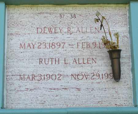 ALLEN, DEWEY R - Marion County, Oregon | DEWEY R ALLEN - Oregon Gravestone Photos