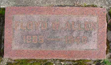 ALLEN, FLOYD W - Marion County, Oregon   FLOYD W ALLEN - Oregon Gravestone Photos