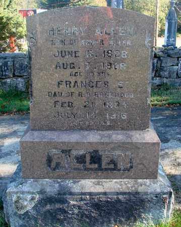 ALLEN, FRANCES ELMINA - Marion County, Oregon   FRANCES ELMINA ALLEN - Oregon Gravestone Photos