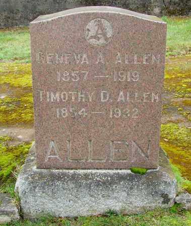 ALLEN, GENEVA A - Marion County, Oregon | GENEVA A ALLEN - Oregon Gravestone Photos