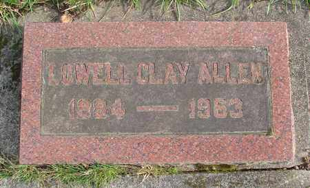 ALLEN, LOWELL CLAY - Marion County, Oregon | LOWELL CLAY ALLEN - Oregon Gravestone Photos