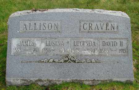 ALLISON, LUSINA - Marion County, Oregon | LUSINA ALLISON - Oregon Gravestone Photos