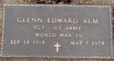 ALM (WWII), GLENN EDWARD - Marion County, Oregon | GLENN EDWARD ALM (WWII) - Oregon Gravestone Photos