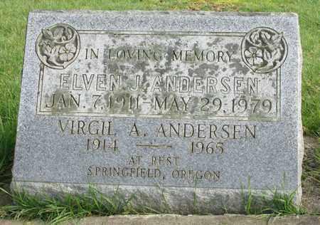 ANDERSEN, VIRGIL A - Marion County, Oregon | VIRGIL A ANDERSEN - Oregon Gravestone Photos